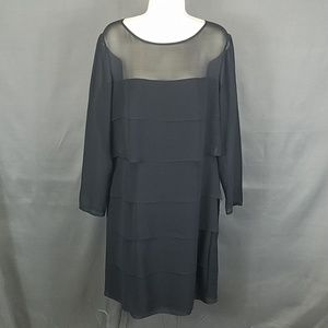 3 for $10- Kay Unger Evening size 12 silk dress